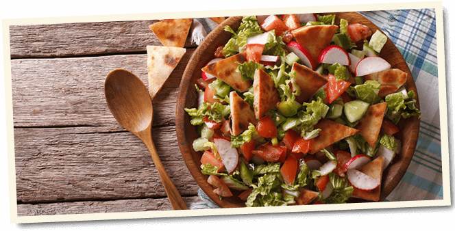 Fattoush Salad, a Pearl of the Middle East